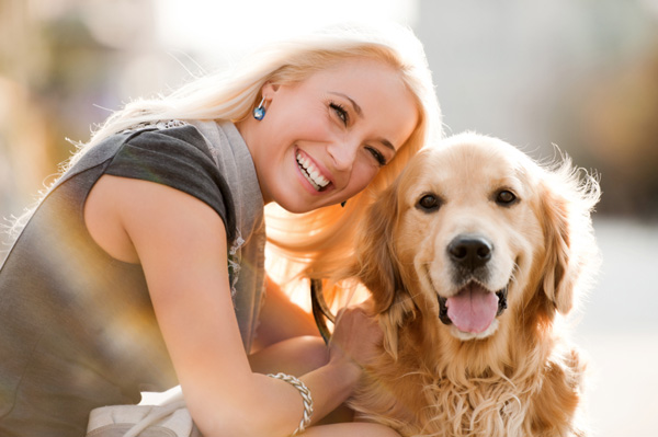 happy-woman-with-her-dog